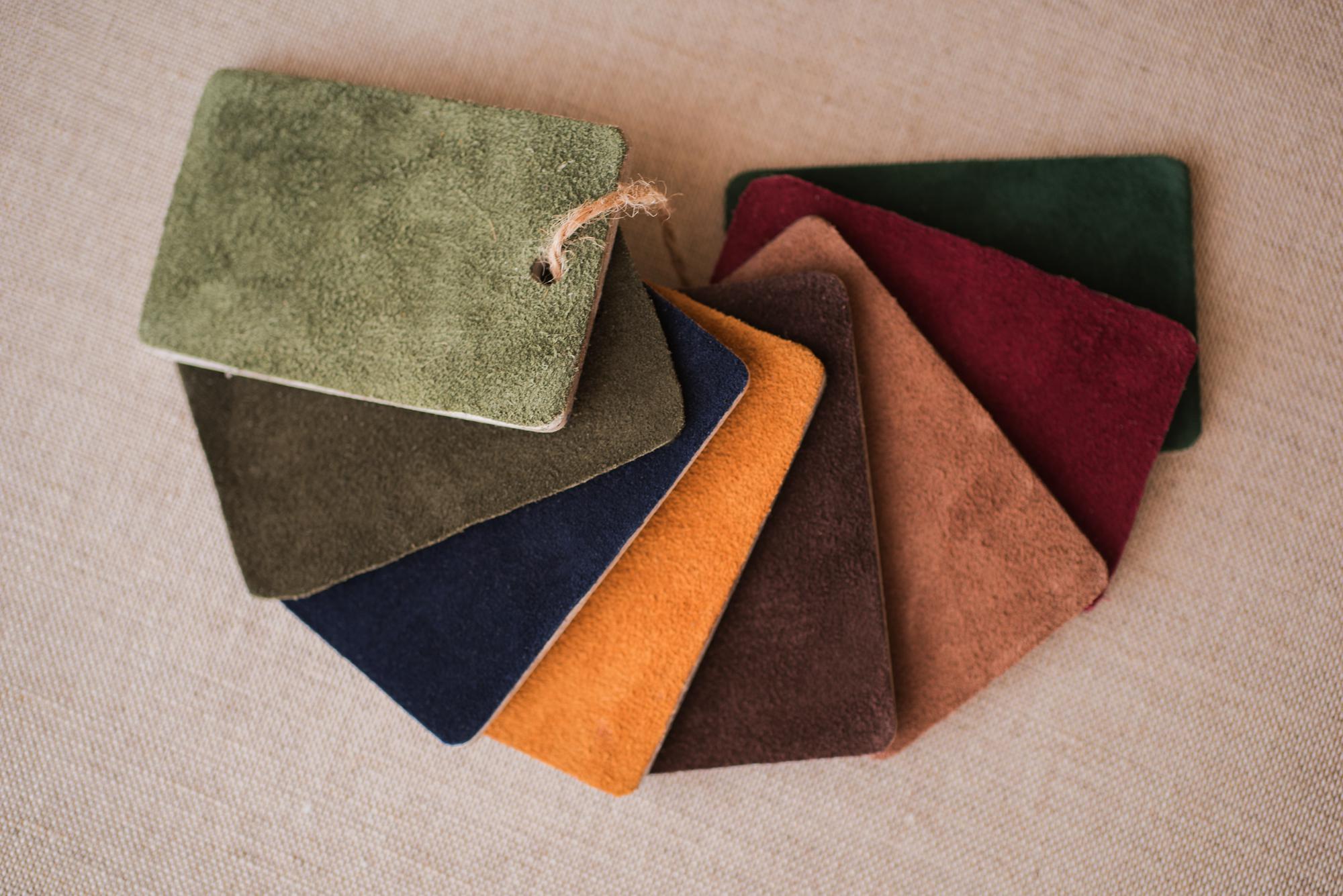 Kit Leather. Muestras de acabados en piel