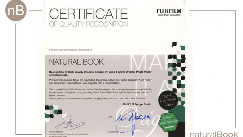 certificado excelencia de FUJI